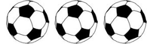 soccer ball graphic - 3 balls